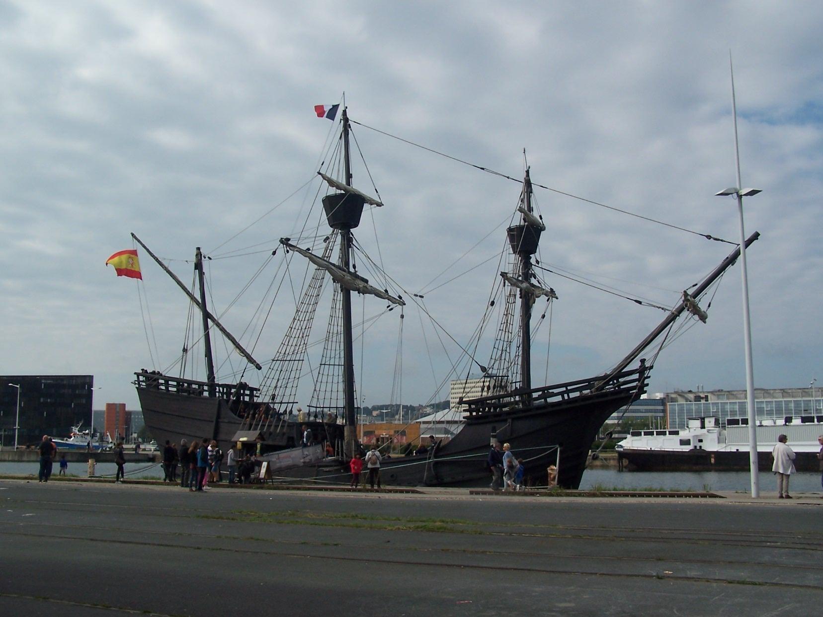 Nao Victoria au Quai de la Réunion Le Havre