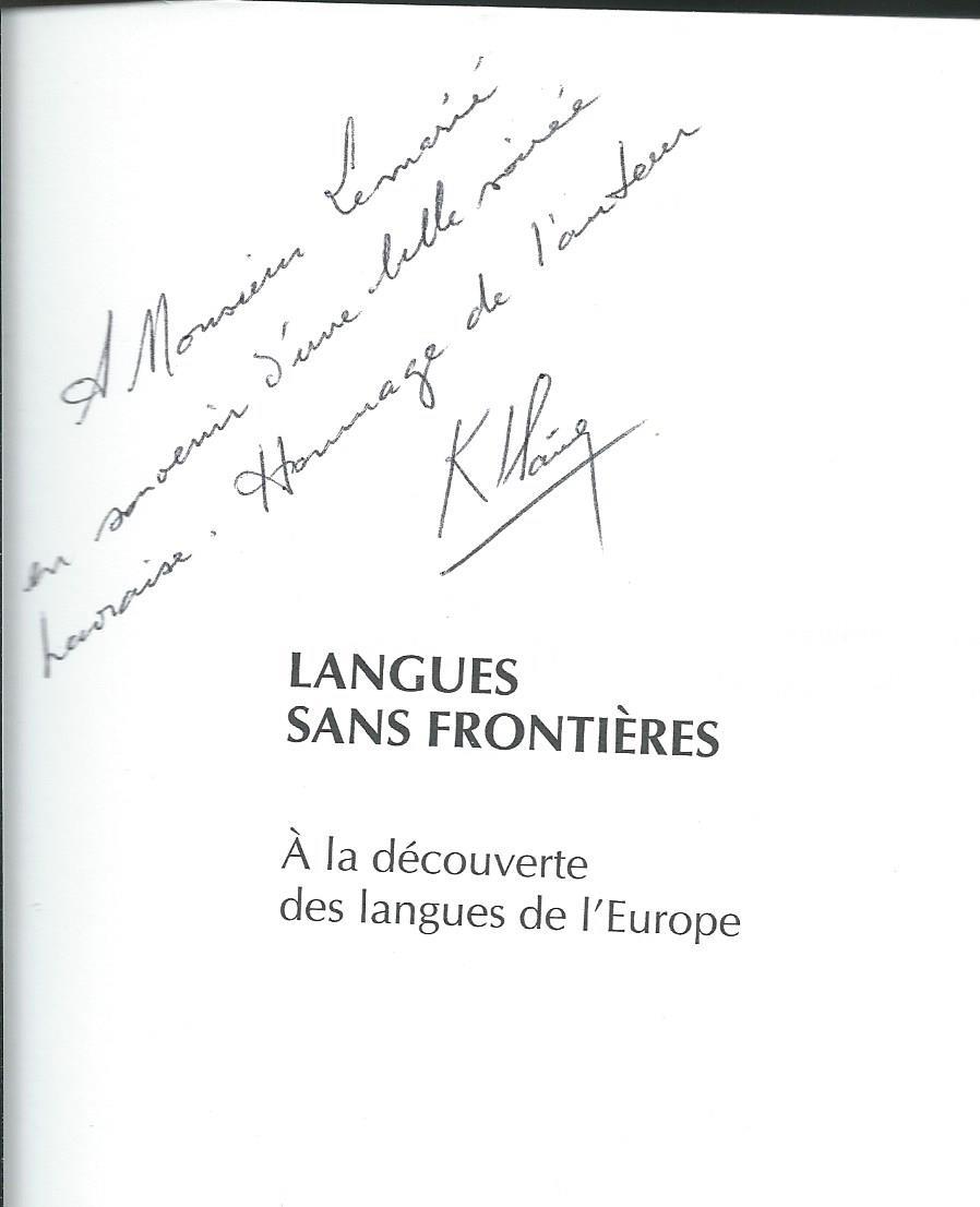 Dédicace Georges Kersaudy 2001 Le Havre Patrick Lemarié Consulting