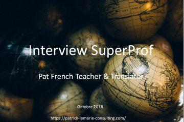 nterview professeur de français en ligne Superprof