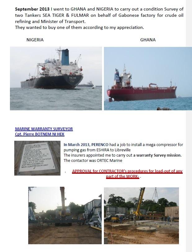 Capitaine Pierre Botnem Expert Maritime Missions Ghana et Nigéria