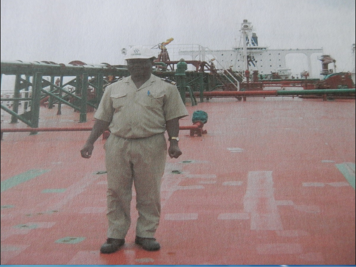 Pierre Botnem Marine Surveyor on deck of Tanker UTHA interview to promote your business