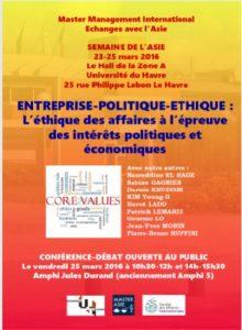 Enterprise - Politics Ethics - University of Le Havre - Business Ethics